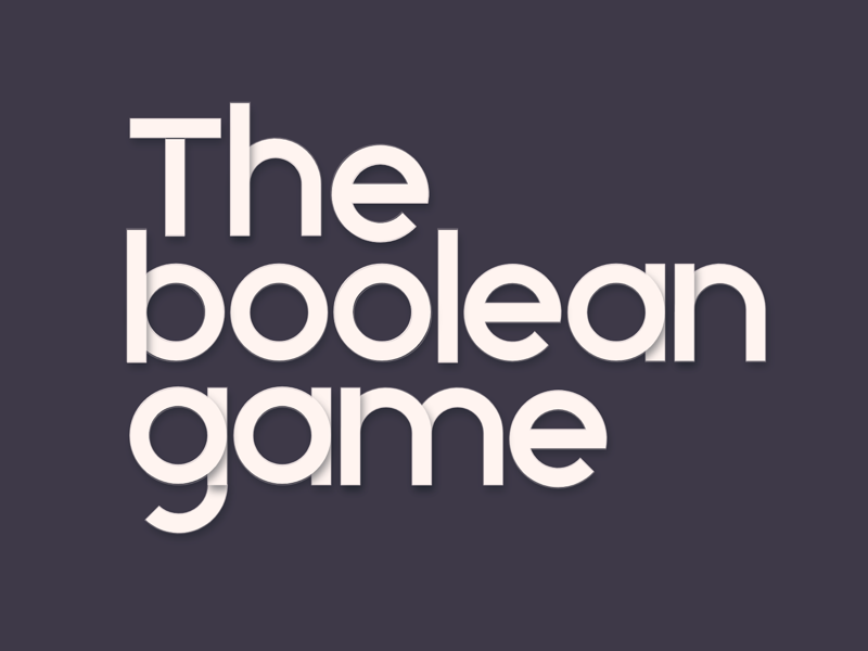 The Boolean Game